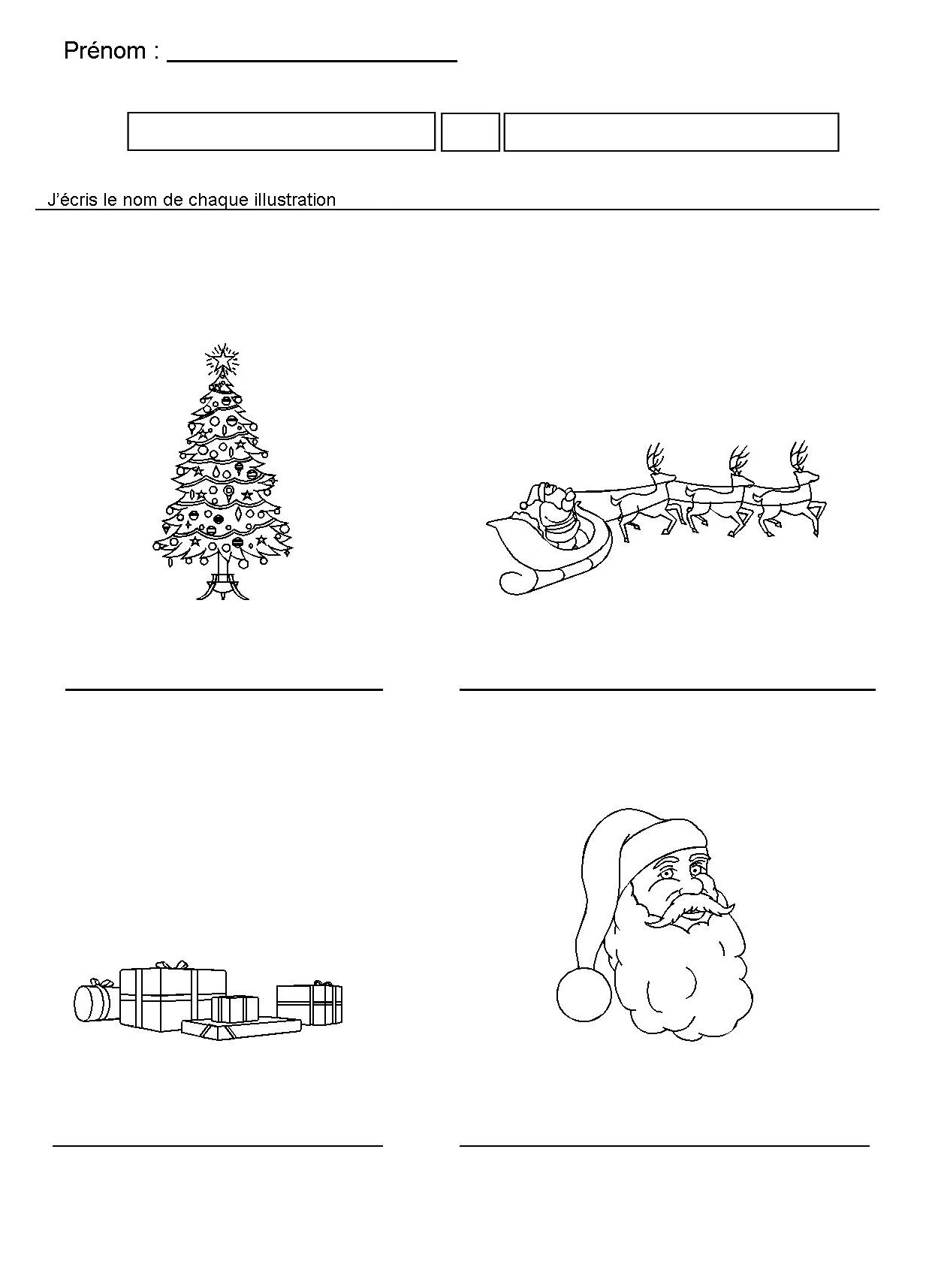 Noel En Maternelle dedans Ecriture De Noel A Imprimer