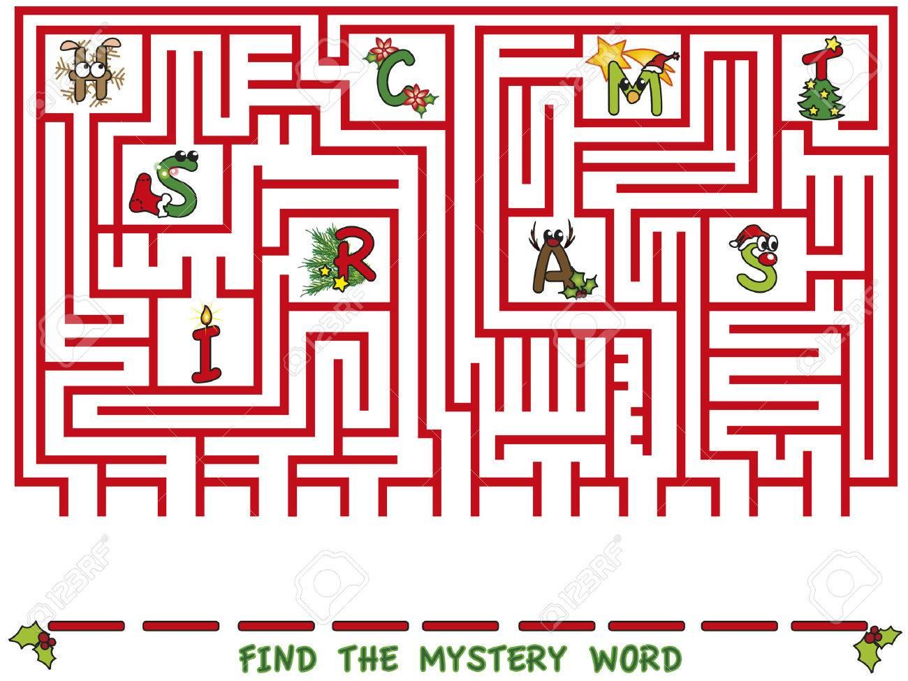 Noël Jeu Trouver Le Mot Mystère destiné Mot Mystere
