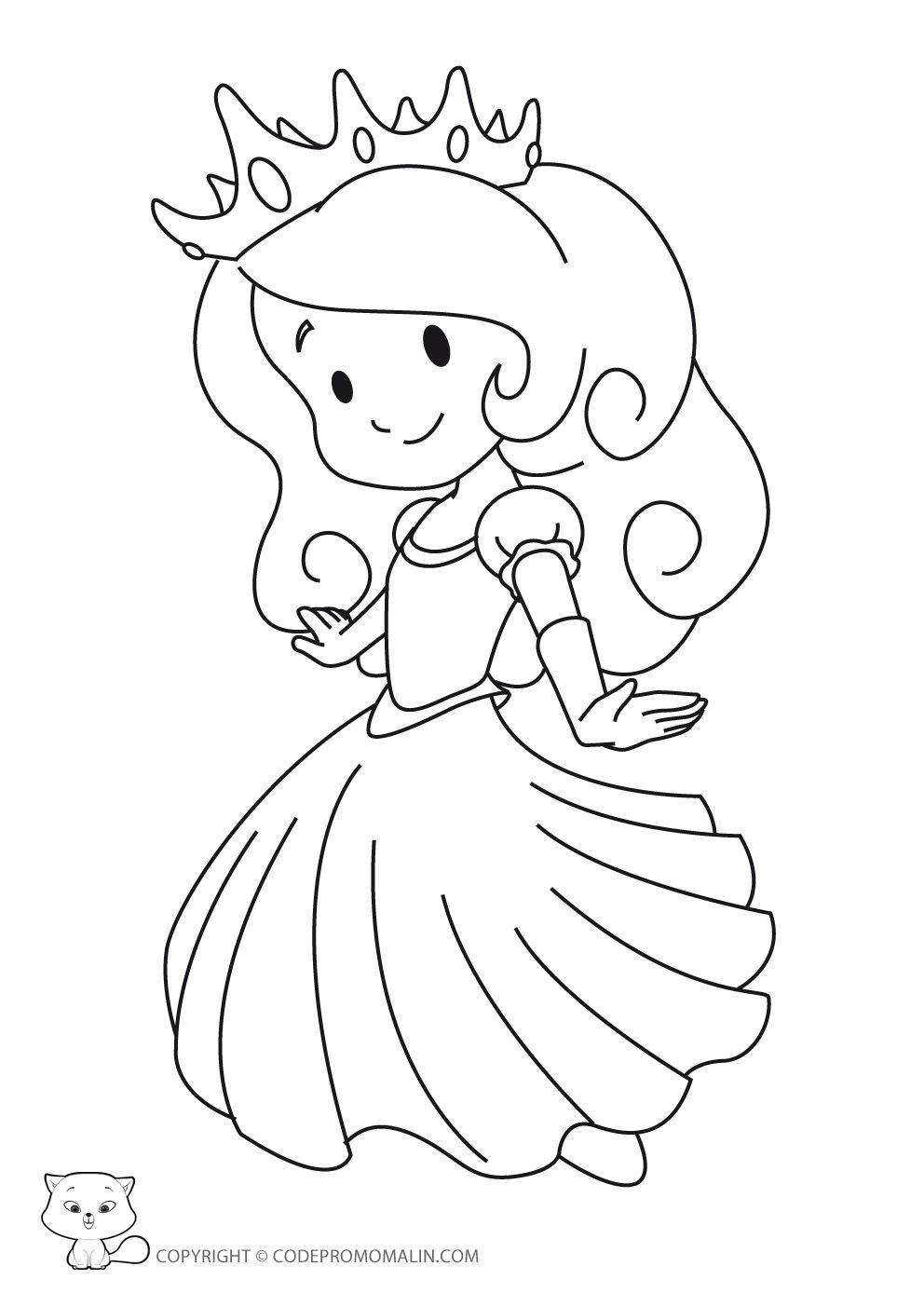 Nos Jeux De Coloriage Princesse À Imprimer Gratuit intérieur Princesse À Colorier Gratuit