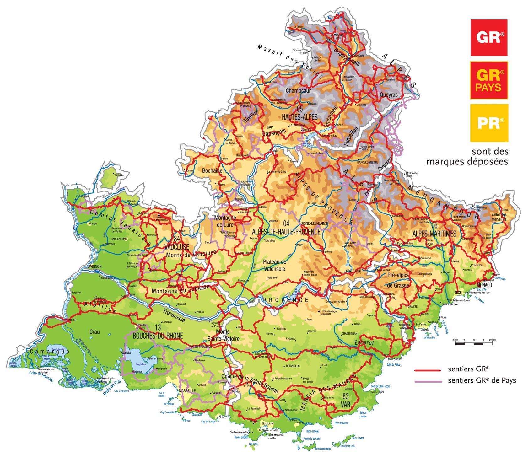 Nos Sentiers Gr®, Gr® De Pays Et Pr - Site Officiel De La dedans Carte Departement 13