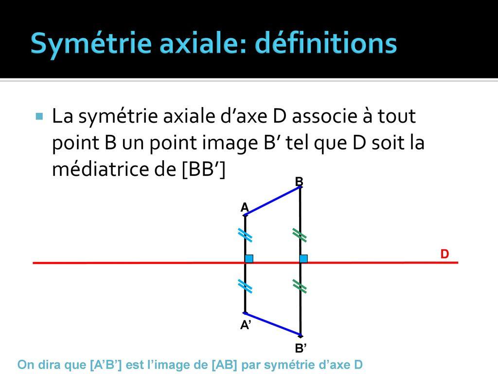 Notion De Médiatrice Définition De La Symétrie Axiale - Ppt intérieur Symétrie Axial