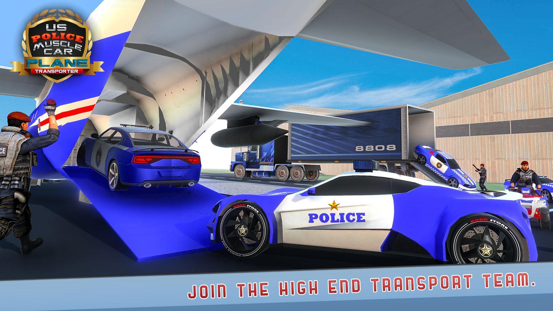 Nous Police Muscle Voiture Avion Transporteur Jeu Pour serapportantà Jeux De 4 4 Voiture