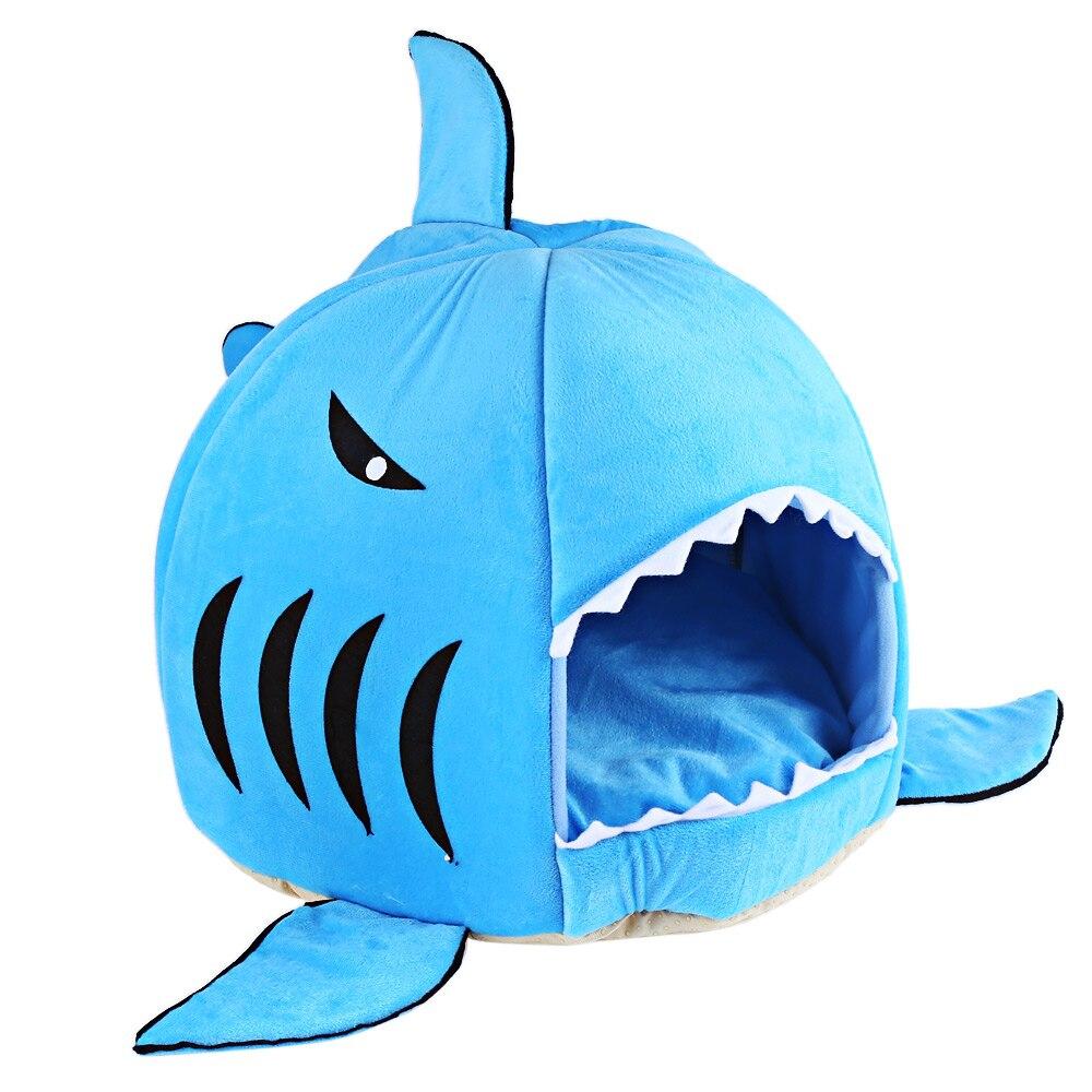 Nouveauté Bleu/gris Belle Requin Doux Souris Forme Doghouse à Requin Souris