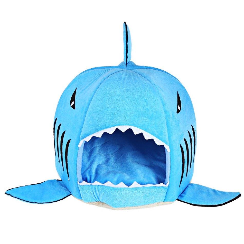 Nouveauté Chien Doux Chat Lit Bleu Gris Couleur Dessin Animé tout Requin Souris