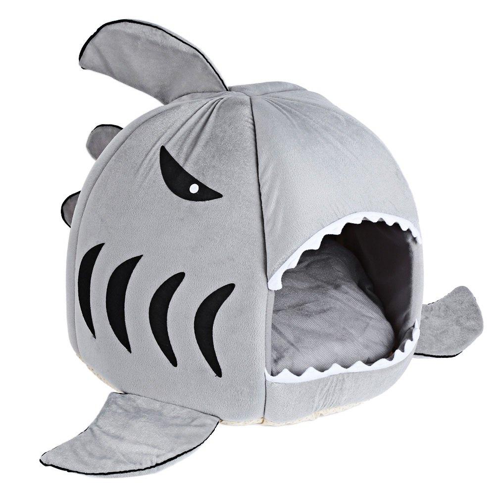 Nouveauté Doux Chien Chat Lit Gris Couleur Requin De Bande serapportantà Requin Souris