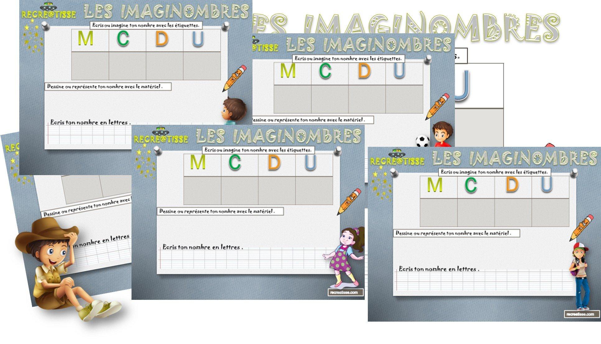 Numération Cp - Ce1 - Ce2 Jeu : Les Imaginombres • Recreatisse pour Jeux De Éducatif Ce2