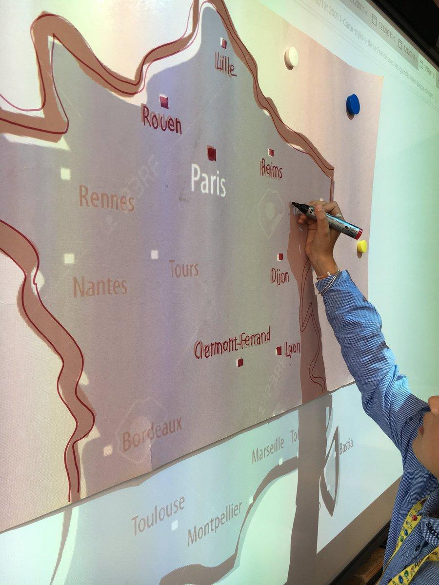 """Numerikinstit👩🏻💻 على تويتر: """"🌍 #geographie : Les avec Placer Des Villes Sur Une Carte"""