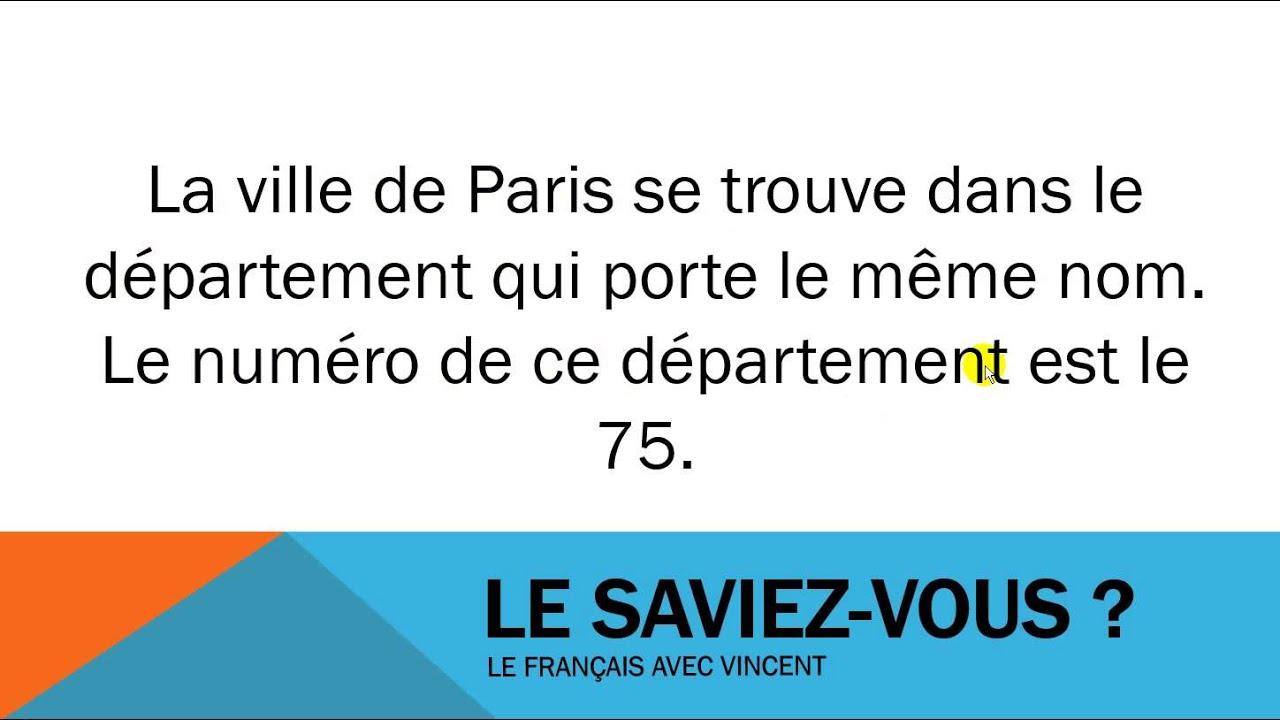 Öğrenmek Fransız # Civilisation # Le Département De Paris dedans Numero Des Departements Francais