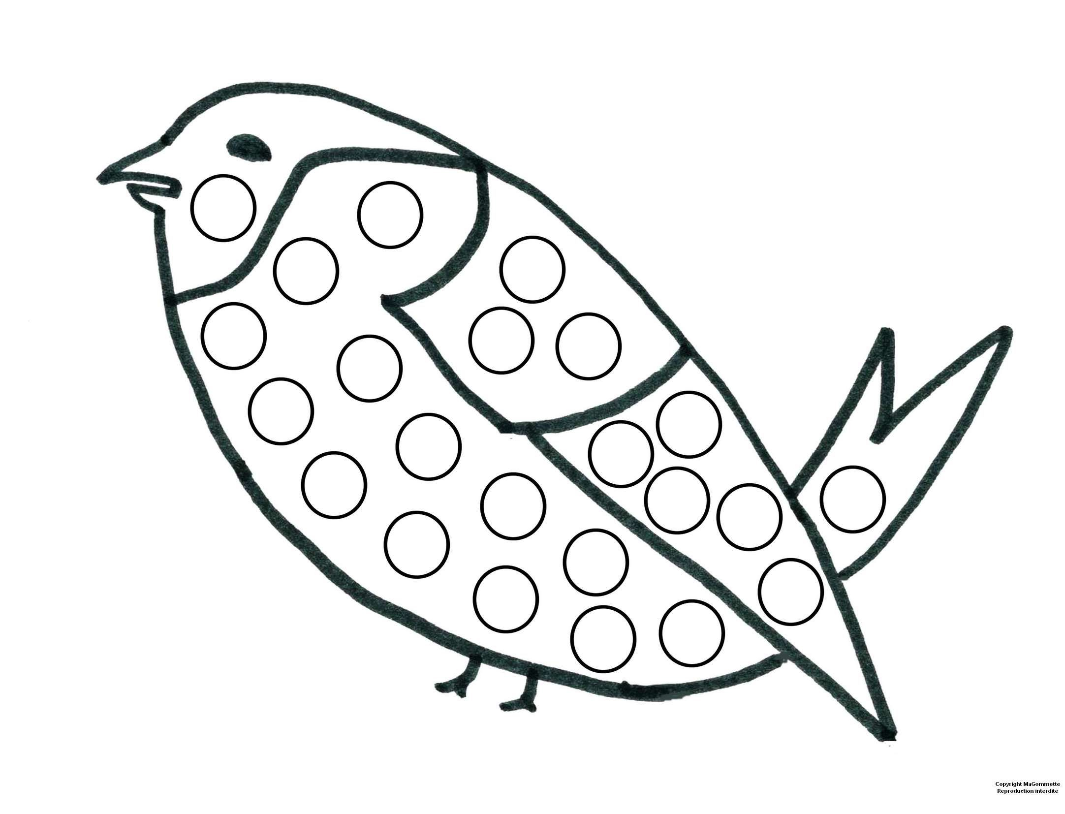 Oiseau | Gommette, Dessin A Imprimer, Coloriage concernant Modèle Oiseau À Découper