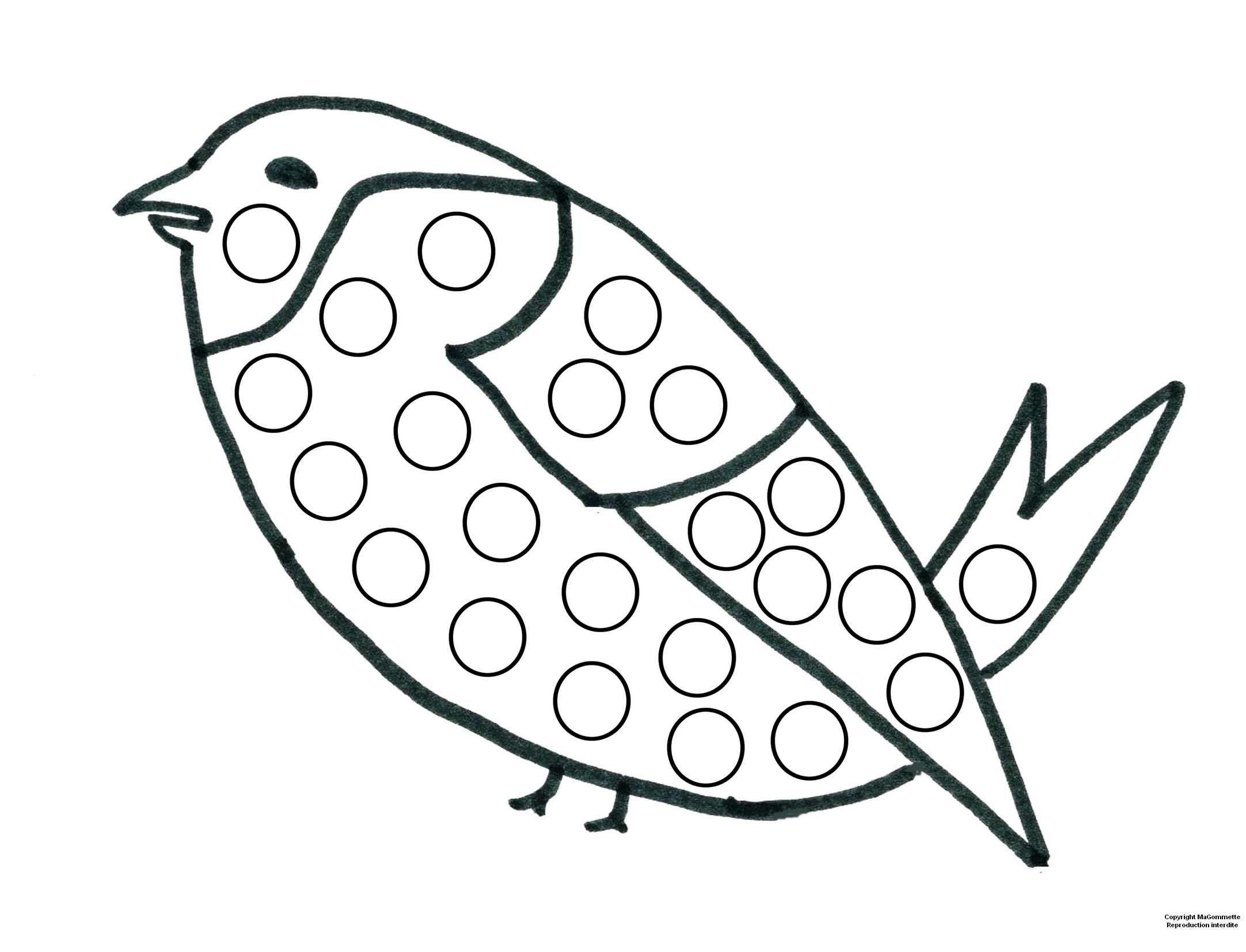 Oiseau | Gommette, Dessin A Imprimer, Coloriage serapportantà Modele Dessin Enfant
