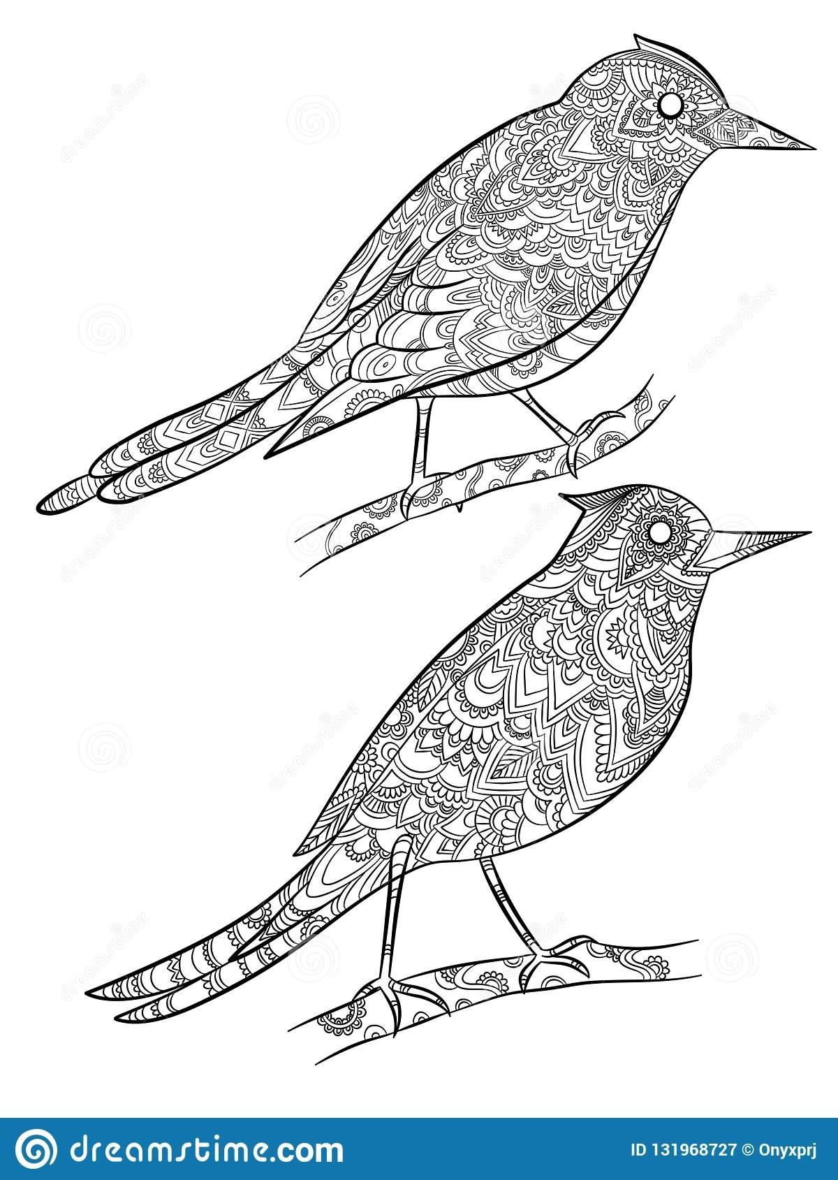 Oiseaux Colorant Des Pages Canari Sauvage Volant Avec Le intérieur Modèle Oiseau À Découper