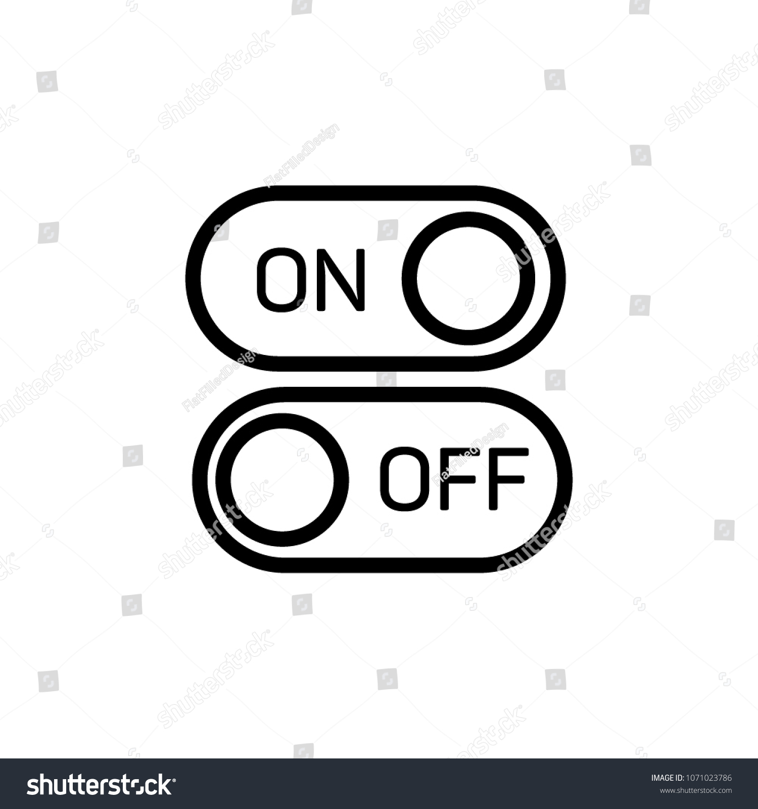 On Off Sign Vector Icon Button Stock Vector (Royalty Free avec Ux De Fille