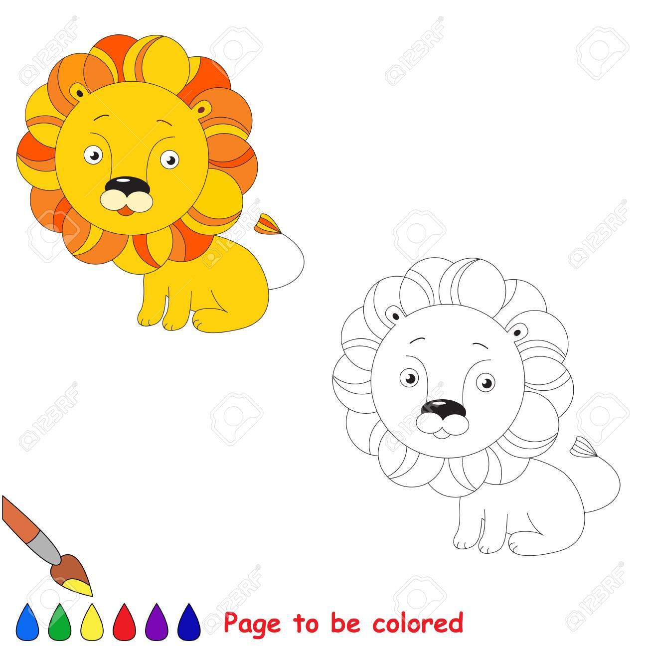 Orange Lion Jouet. Jeu Kid. Livre De Coloriage. Tâche D'être La Couleur.  Pour Les Enfants À Jouer. concernant Photo De Lion A Imprimer En Couleur