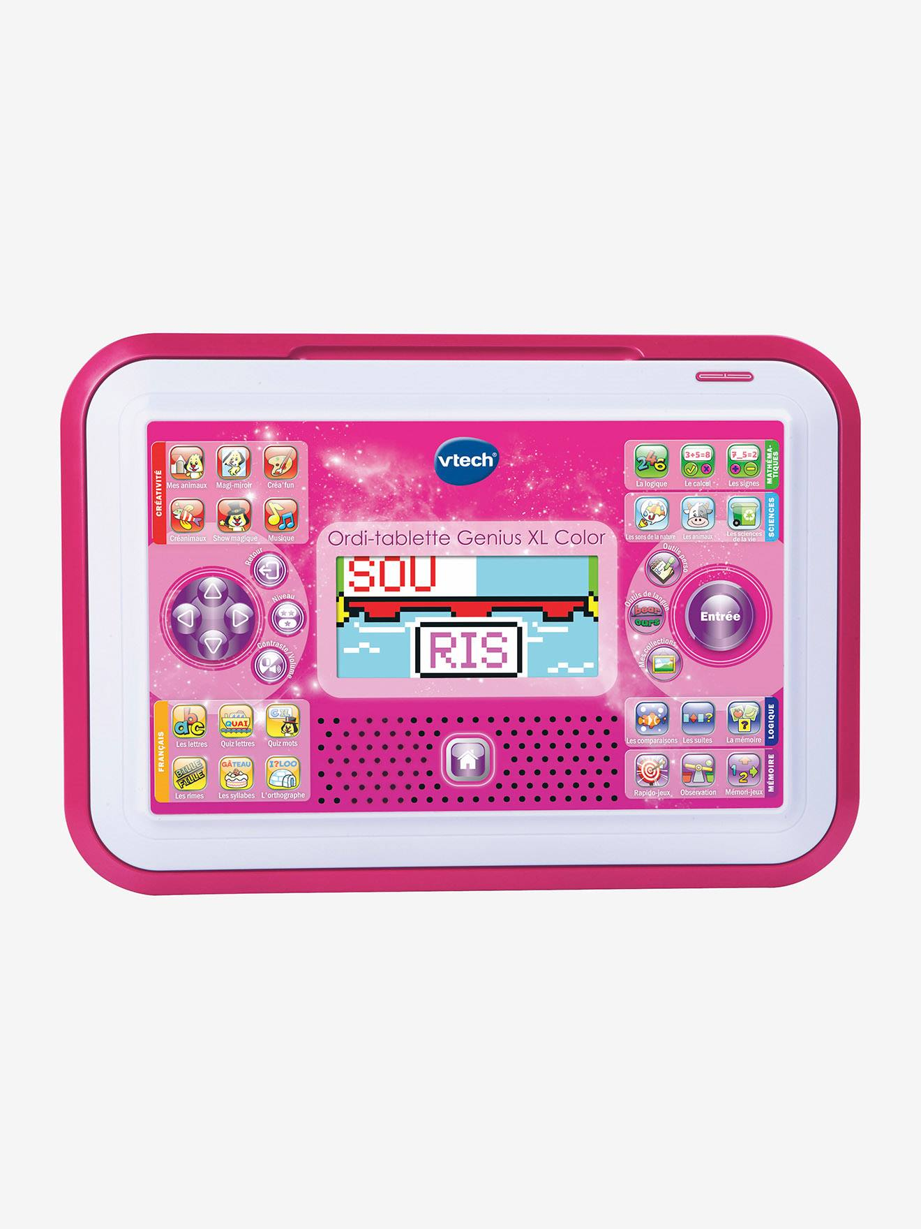 Ordi-Tablette Genius Xl Color Vtech Rose - Vtech serapportantà Ordinateur Educatif 3 Ans