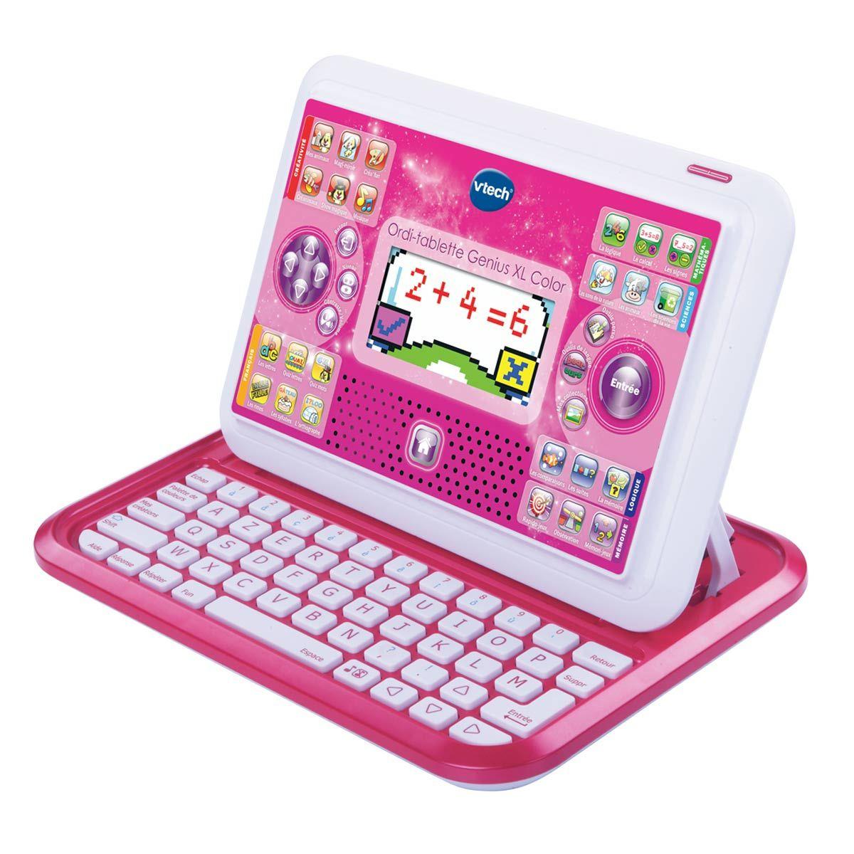 Ordi Tablette Genius Xl Rose Vtech | Ordi Tablette avec Tablette Pour Enfant De 4 Ans