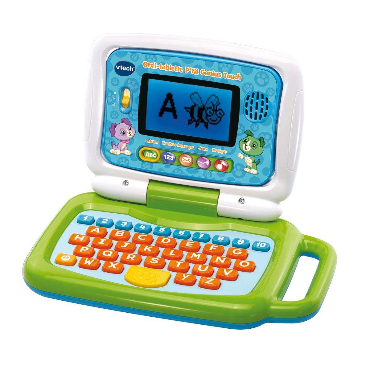 Ordi Tablette P'tit Génius Touch tout Ordinateur Educatif 3 Ans