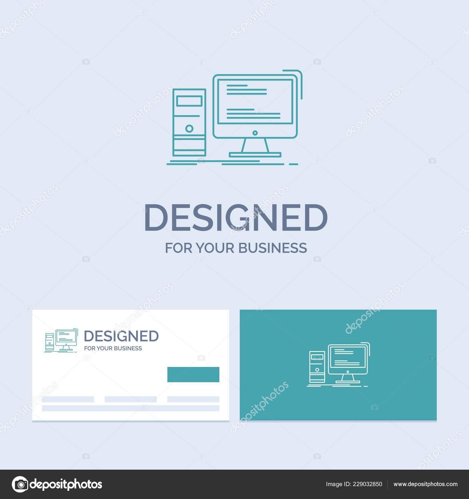 Ordinateur Bureau Jeux Personal Business Logo Ligne Symbole intérieur Jeux Sur Ordinateur En Ligne