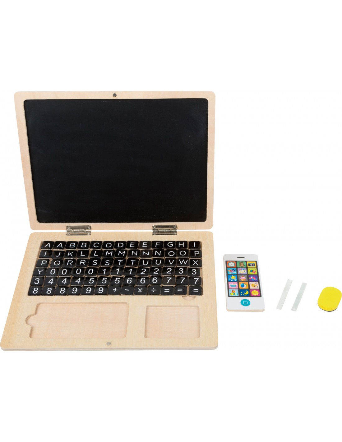 Ordinateur Portable En Bois Avec Tableau Aimanté avec Ordinateur Educatif 3 Ans
