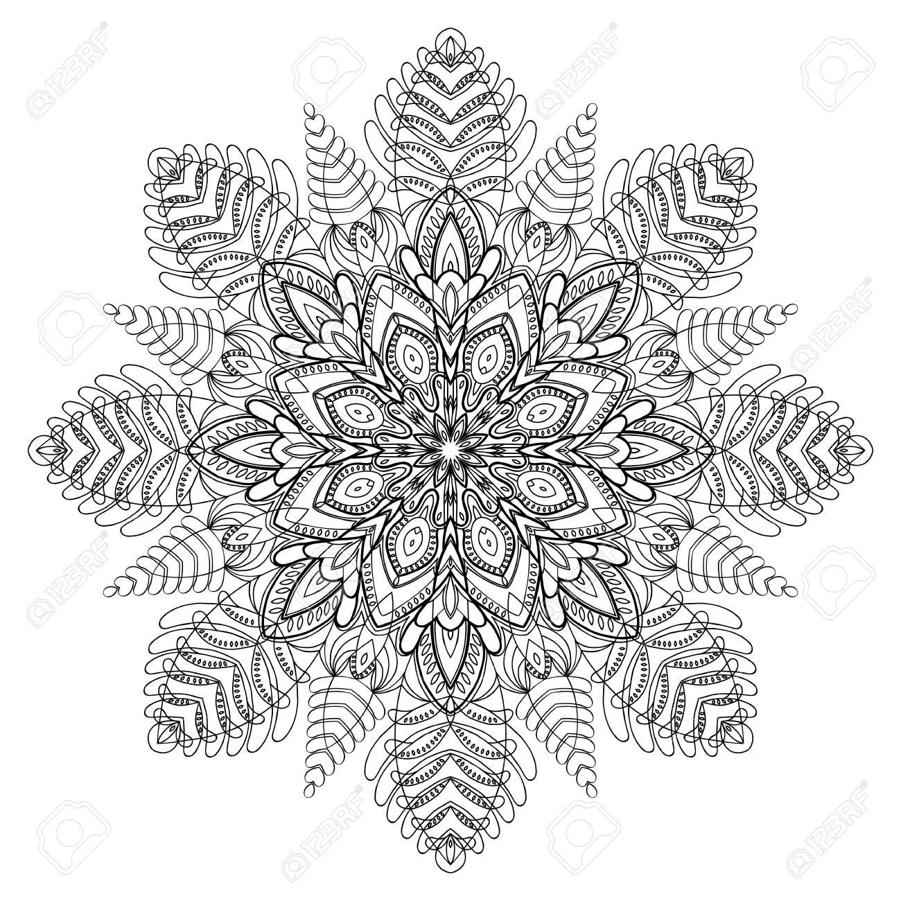 Ornement De Cercle Abstrait. Vector Design Graphique Élément. . Design  Coloriage encequiconcerne Coloriage Graphique