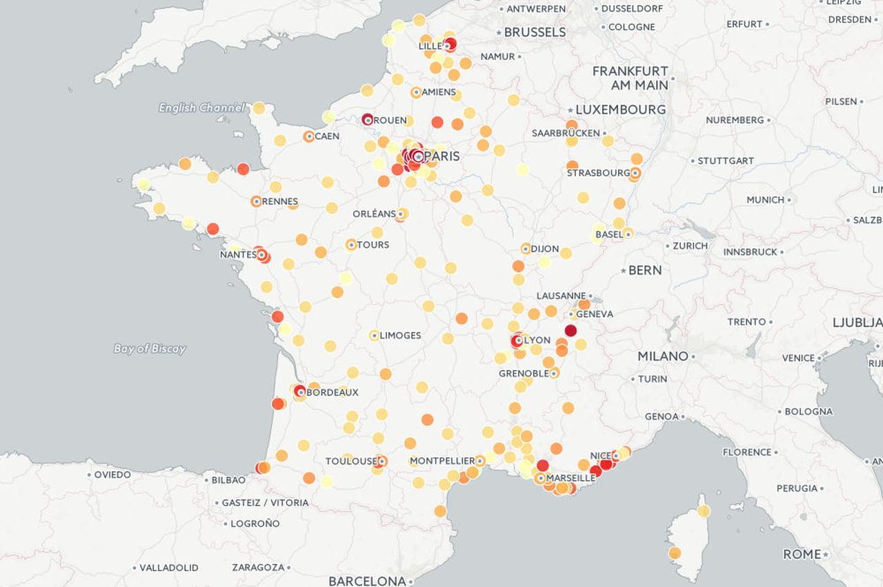 Où Vivent Les Riches En France ? tout Carte De France Avec Grandes Villes