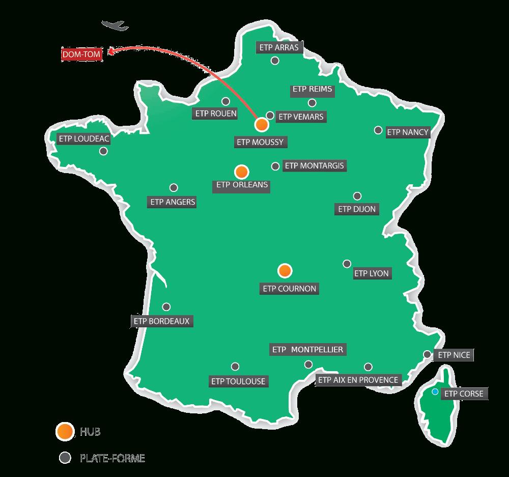 Our Network - Eurotranspharma destiné Carte De France Dom Tom