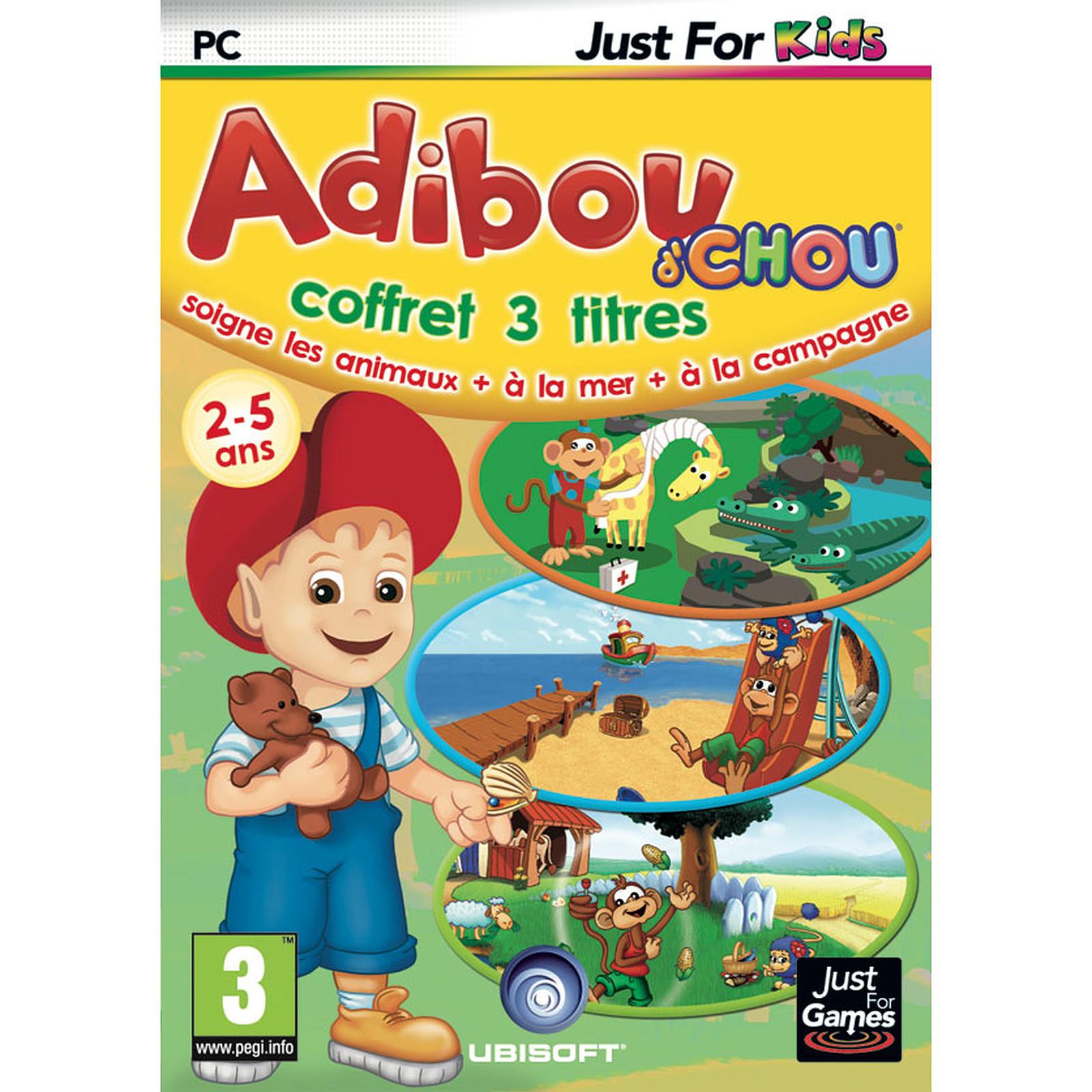 Pack Adibou'chou Mer + Campagne + Soigne Les Animaux (Pc pour Jeux Adibou Pc