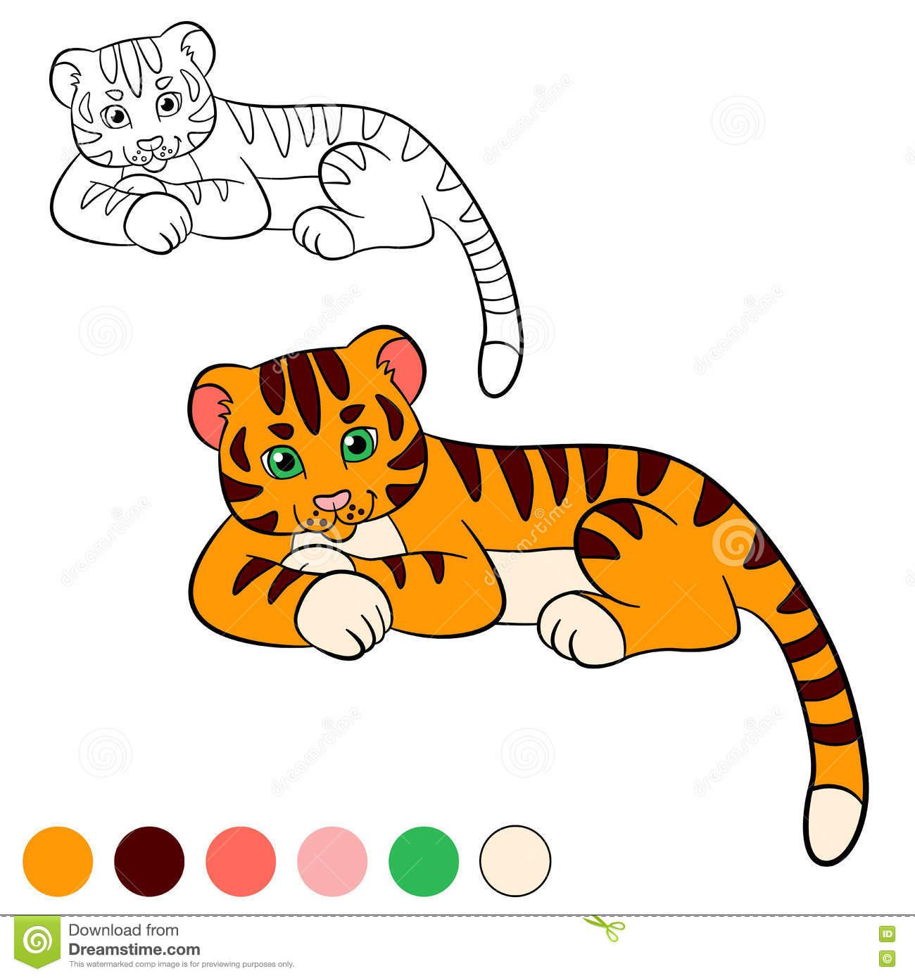 Page De Coloration Colorez-Moi : Tigre Petit Tigre De Bébé intérieur Coloriage Bébé Tigre