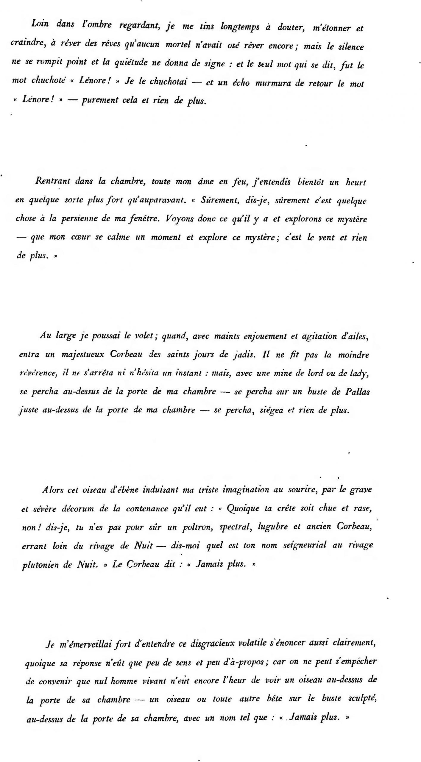 Page:le Corbeau (Traduit Par Stéphane Mallarmé).djvu/11 avec Mot Mystere