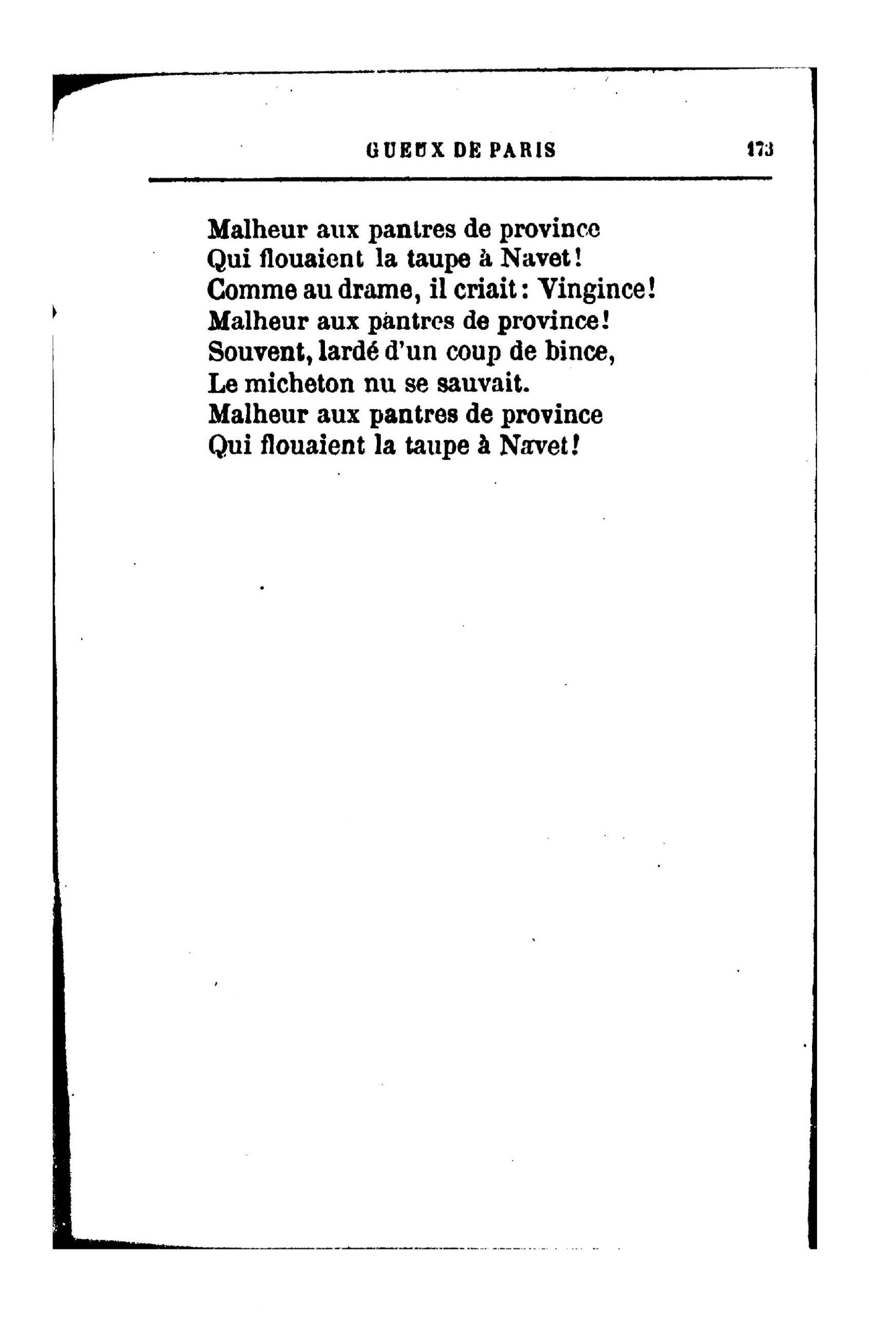 Page:richepin - La Chanson Des Gueux, 1881.djvu/210 - Wikisource tout La Taupe Chanson