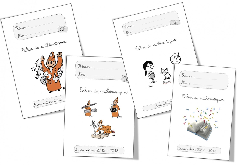 Pages De Garde ….encore Et Encore Et Encore | Bout De Gomme destiné Cahier D Exercice Cp