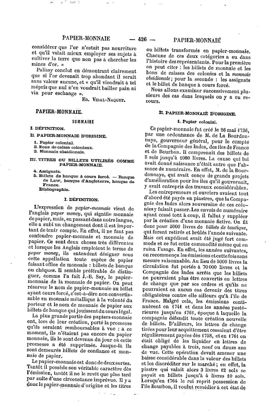 Page:say - Chailley - Nouveau Dictionnaire D'économie dedans Monnaie Fictive