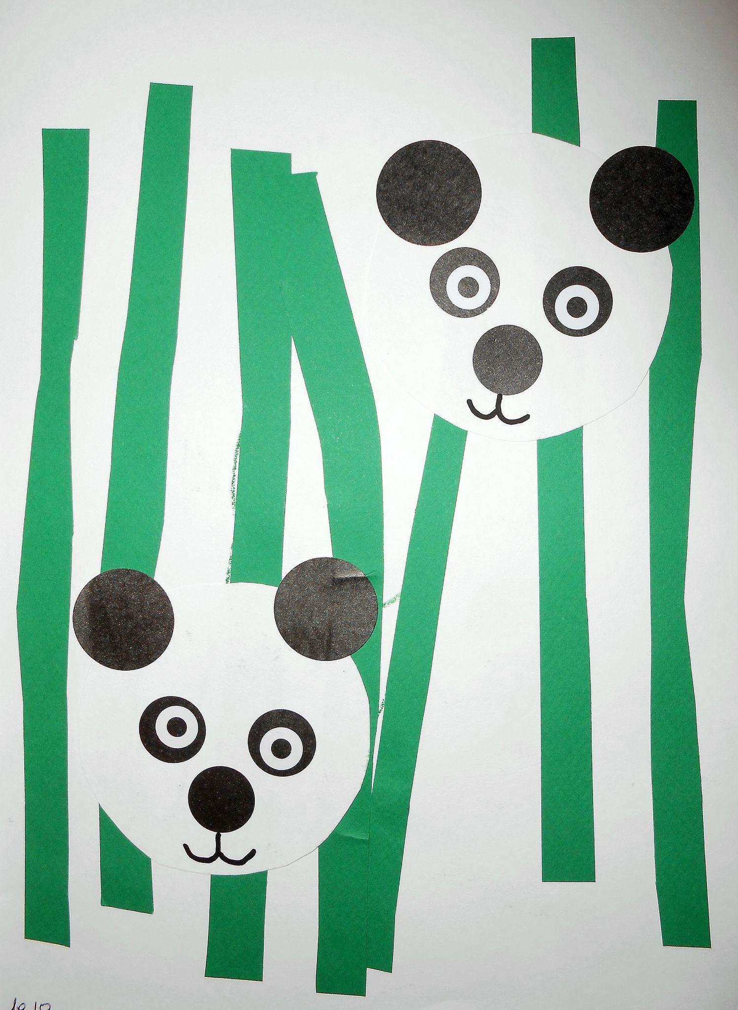 Panda - Collage Facile - La Maison Féerique | Activité destiné Activité Manuelle Animaux