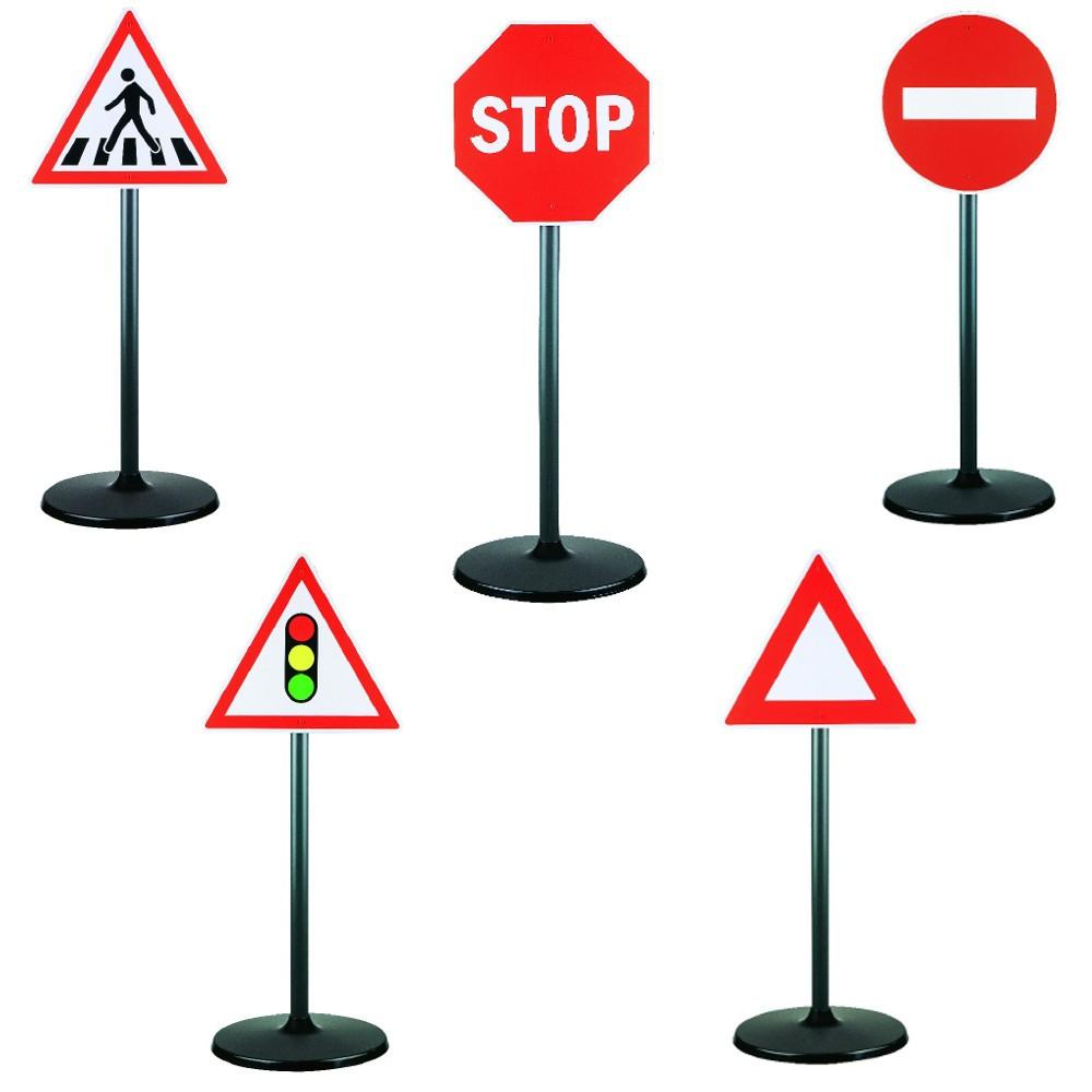 Panneau De Signalisation X 5 pour Jeux De Voiture Avec Feu Rouge