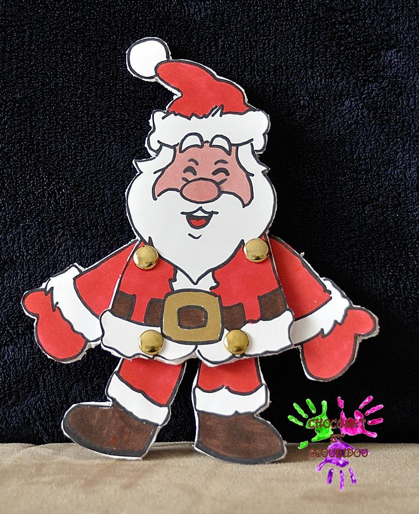 Pantin À Ficelle - Père Noël | Chocolat Et Scoubidou destiné Pere Noel A Decouper