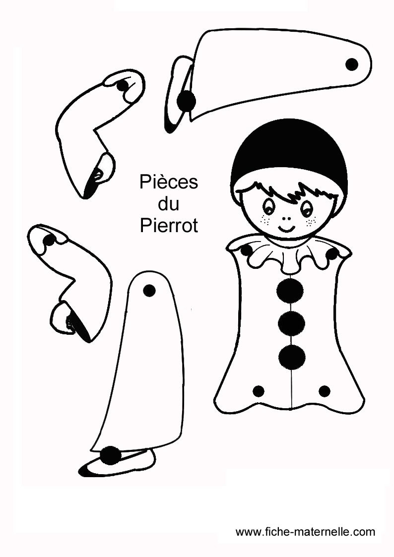 Pantin Articulé Simple | Pantin Articulé, Pantin, Bricolage concernant Dessin Pantin