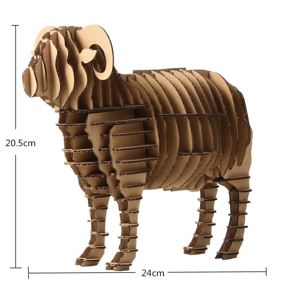 Paper Maker Diy 3D Jigsaw Puzzles Sheep Model For Kids dedans Puzzle Facile Gratuit