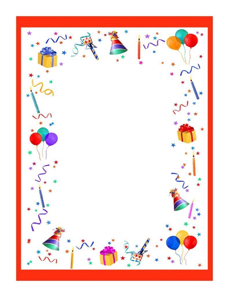 Papier À Lettre À Imprimer Pour Souhaiter Un Joyeux avec Papier À Lettre Gratuit À Imprimer