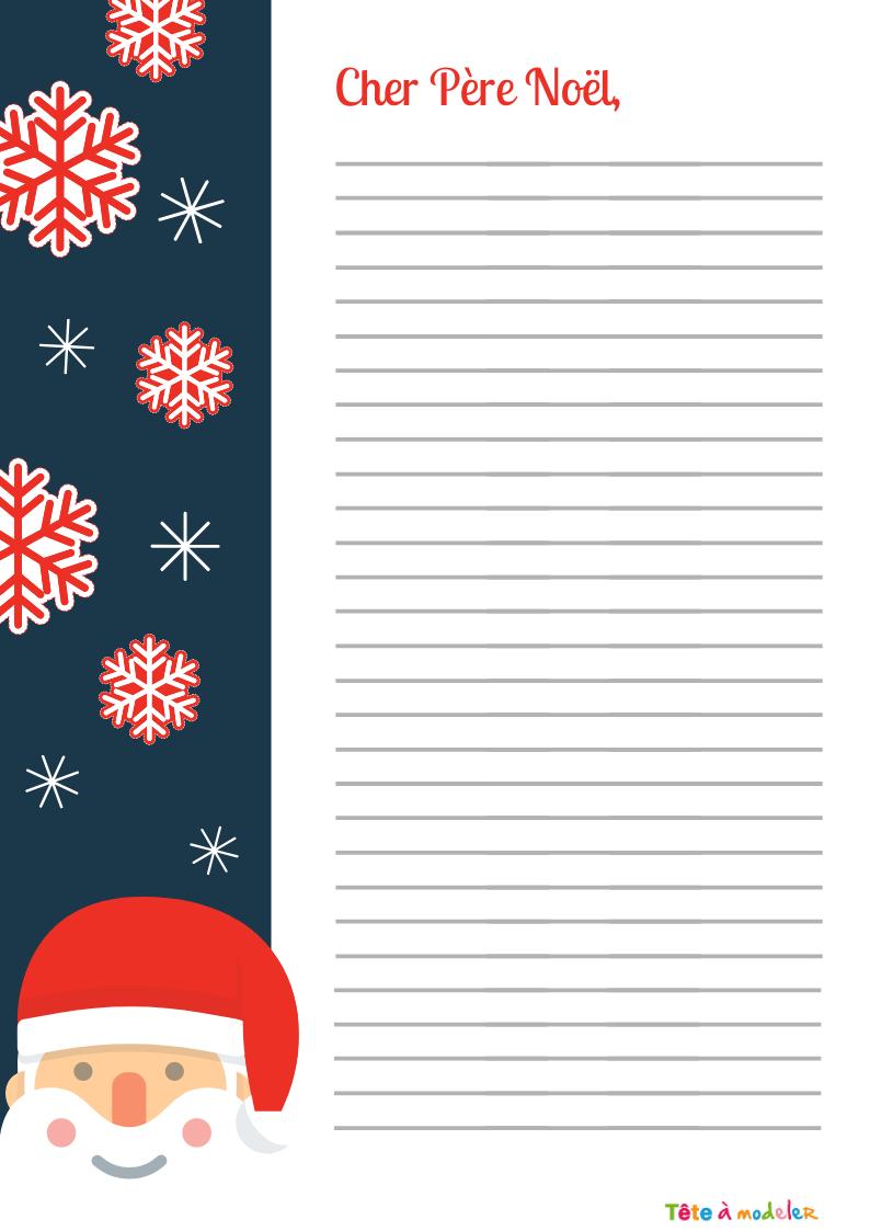 Papier À Lettre À Lignes Gratuit À Imprimer - Tête À Modeler concernant Papier A Lettre Pere Noel Gratuit
