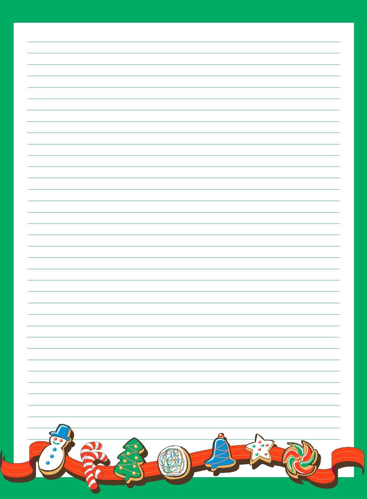 Papier À Lettre De Noël À Imprimer À La Maison Facilement avec Feuille Ligne Lettre