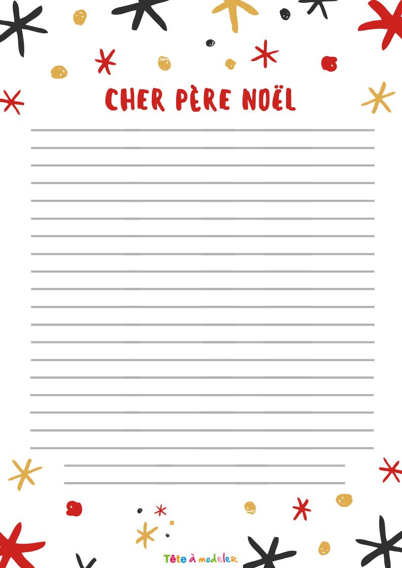Papier À Lettre Décoré D'un Bonhomme De Neige Gratuit serapportantà Papier À Lettre Père Noel À Imprimer Gratuitement