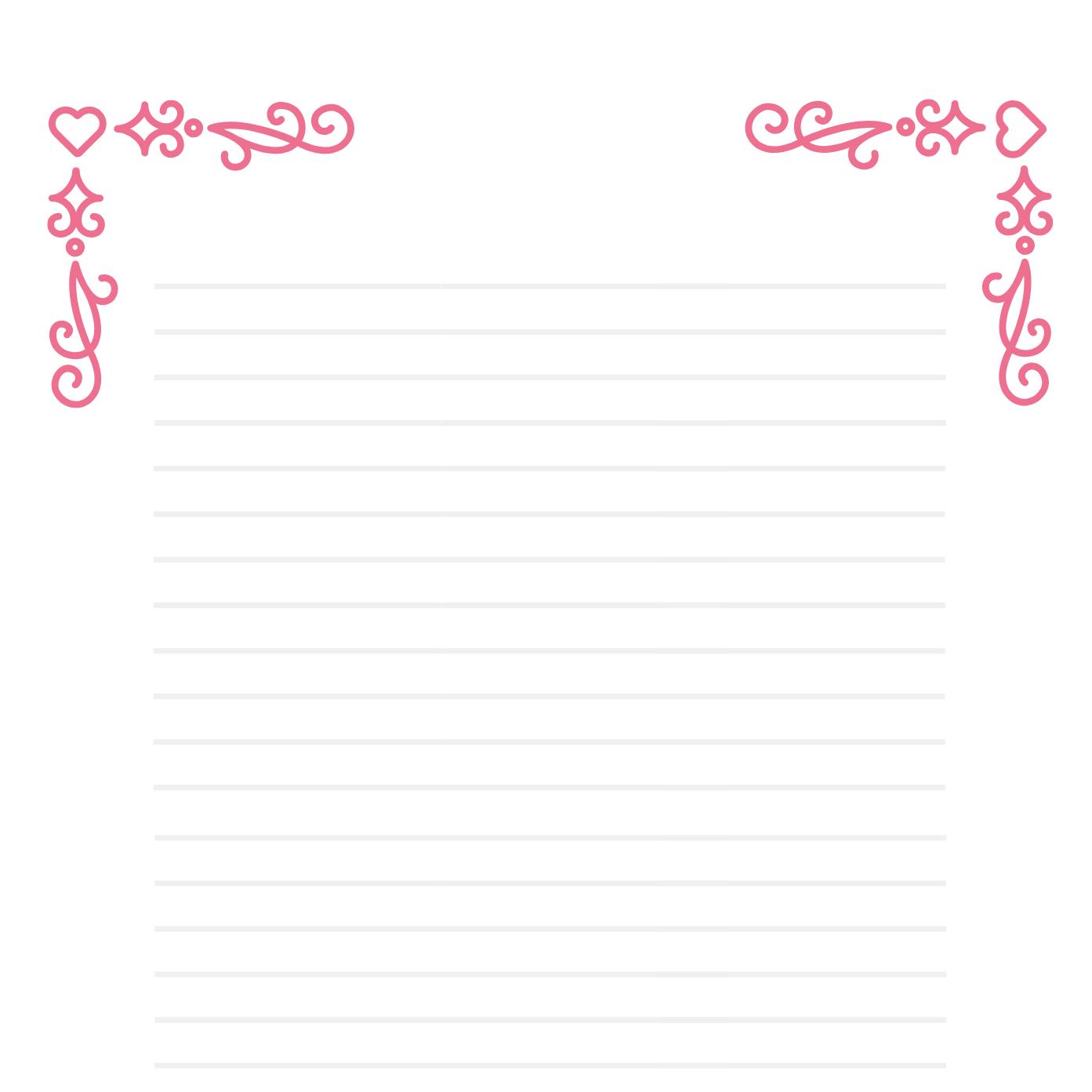 Papier À Lettre Dessin À Imprimer - Papier A Lettre - Tête À intérieur Papier À Lettre Gratuit À Imprimer