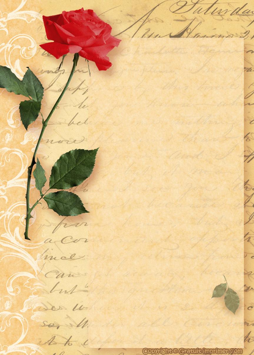 Papier À Lettre Gratuit À Télécharger tout Lettre A Imprimer Gratuit