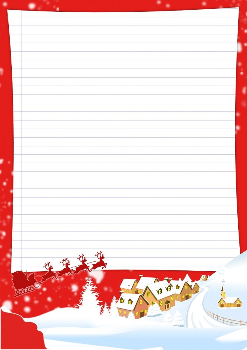 Papier À Lettre Noël À Imprimer Soi-Même | Lettre De Noel dedans Papier À Lettre Gratuit À Imprimer