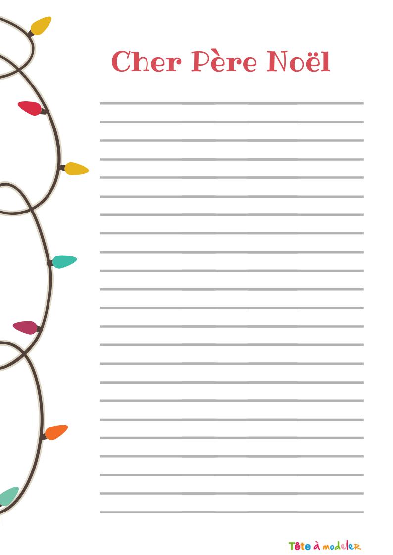Papier À Lettre Père Noël À Ligne Gratuit - Tête À Modeler intérieur Papier À Lettre Gratuit À Imprimer