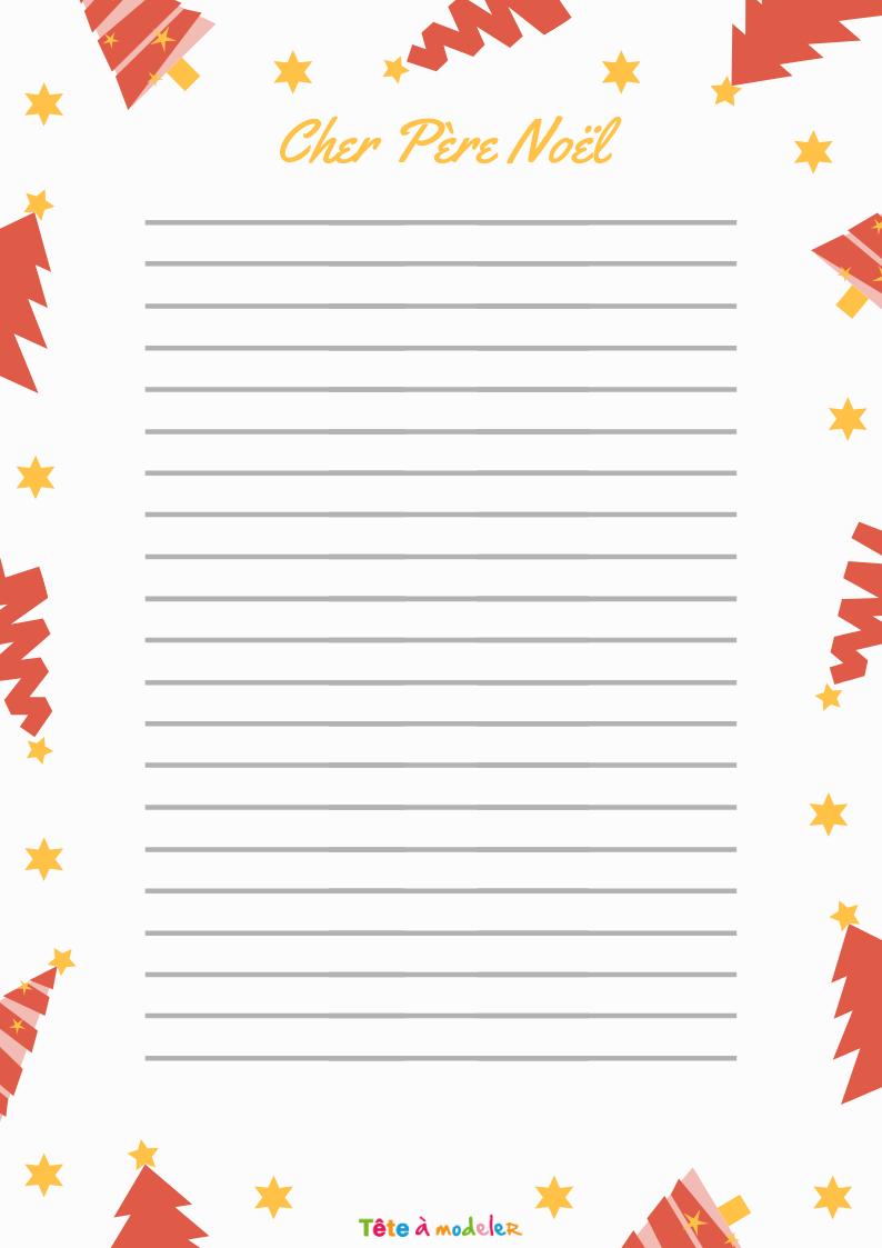 Papier À Lettre Père Noël : Papier Ancien - Tête À Modeler tout Papier A Lettre Pere Noel Gratuit
