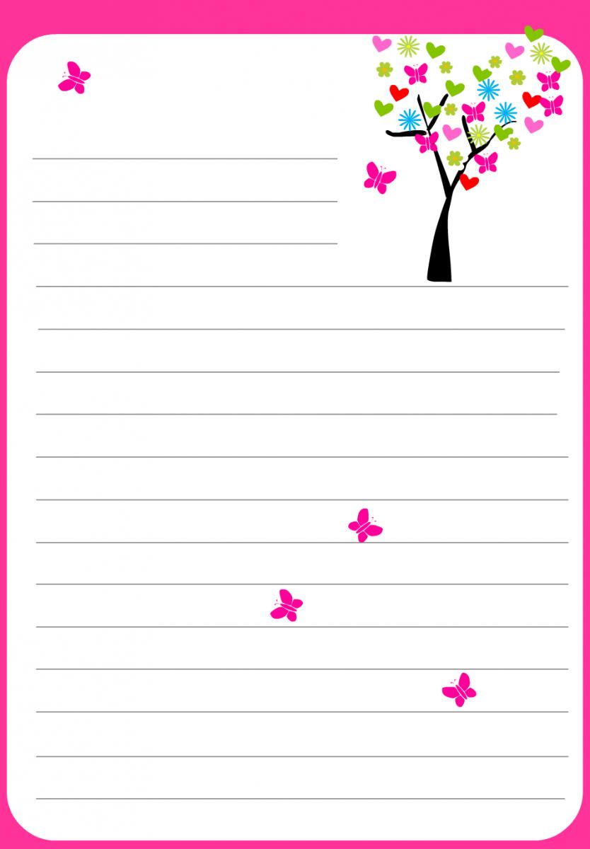 Papier À Lettre St Valentin À Imprimer Chez Soi Gratuitement intérieur Feuille De Couleur A Imprimer Gratuit
