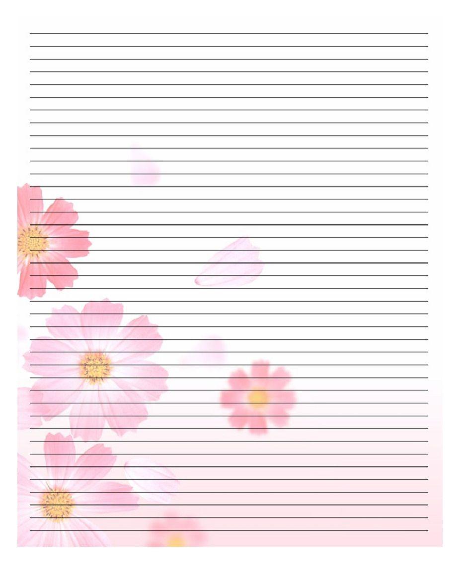 Papier À Lettre St Valentin À Imprimer Chez Soi Gratuitement serapportantà Feuille Ligne Lettre