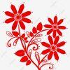 Papier Découpé Fait Main Silhouette Fleur, Fleur, Carton à Fleurs À Découper