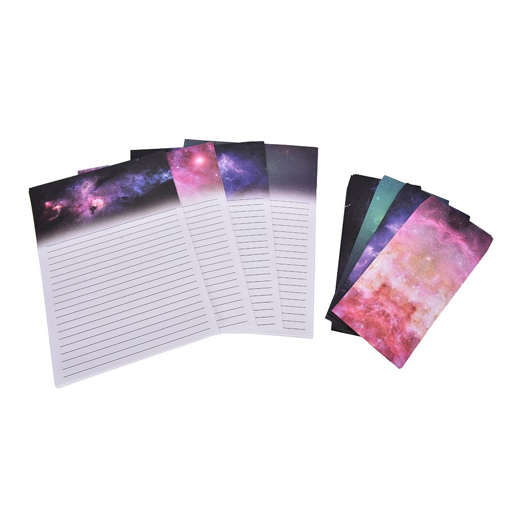 Papier Écrit Gros- 6 Feuilles Papier À Lettres 3 Pcs Enveloppes Étoilé Pad  Lettre Ciel Envelopes Papier Vintage Antique Carte Papier Cadeau pour Feuille Ligne Lettre