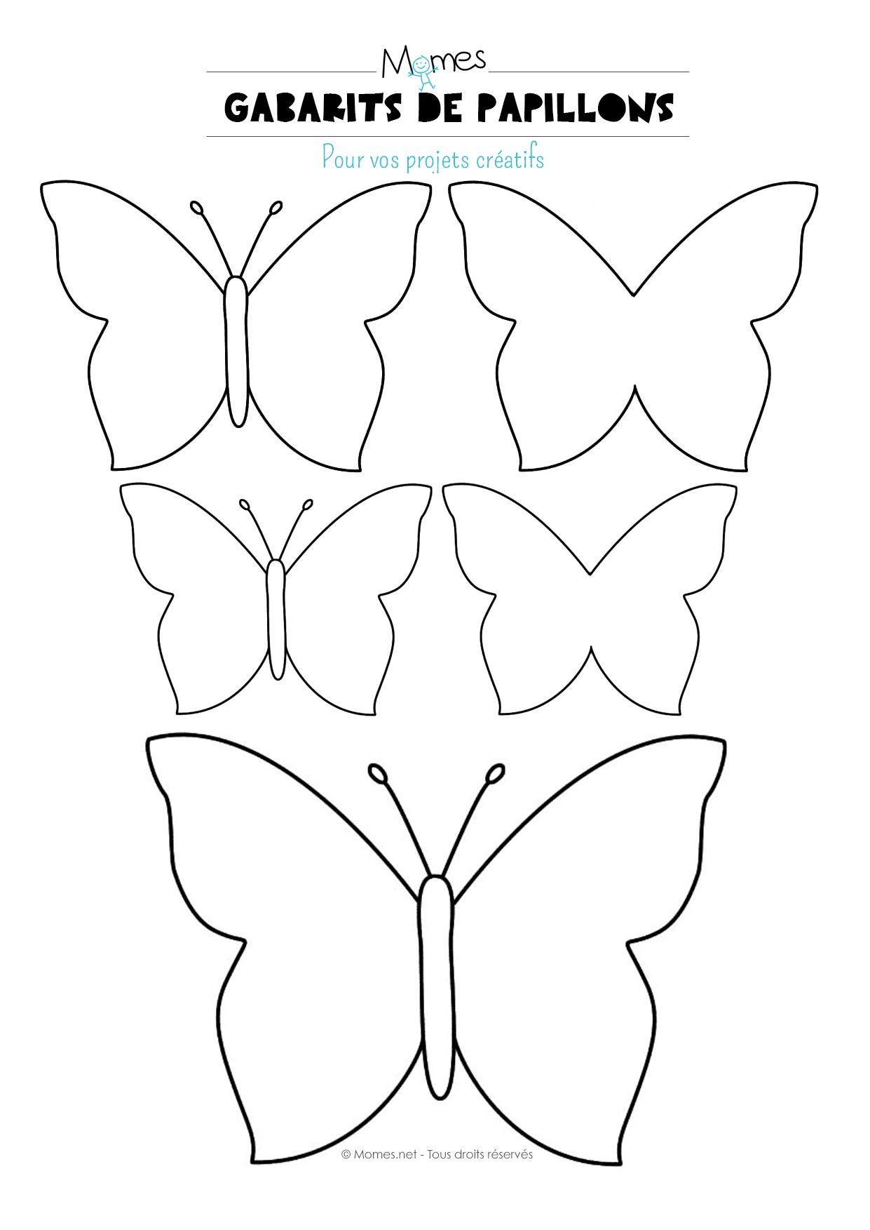 Papillon À Imprimer - Momes dedans Formes À Découper Maternelle